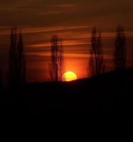 Kýčovitý západ slunce