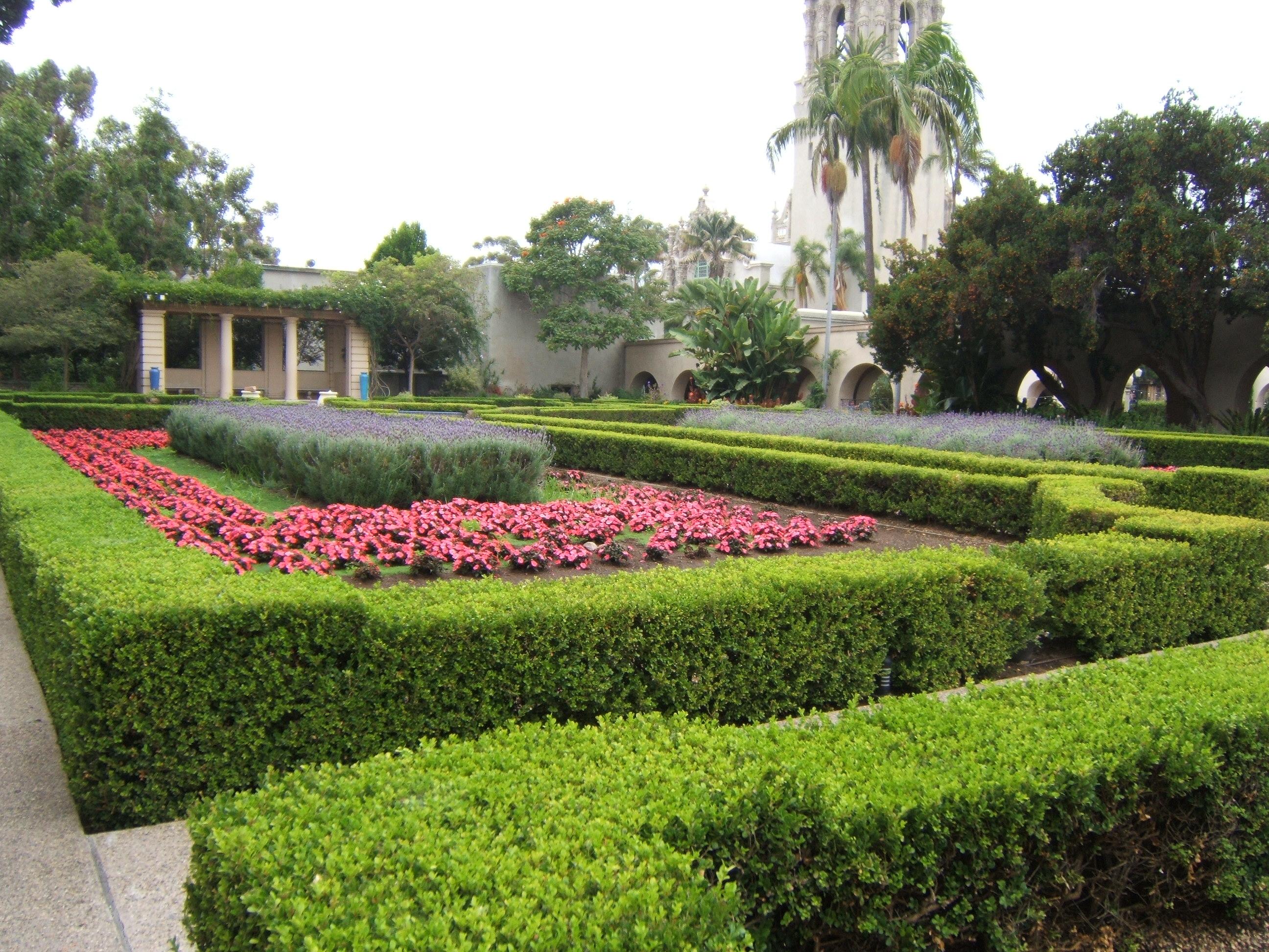 The gardens of Balboa Park  The Lucky One