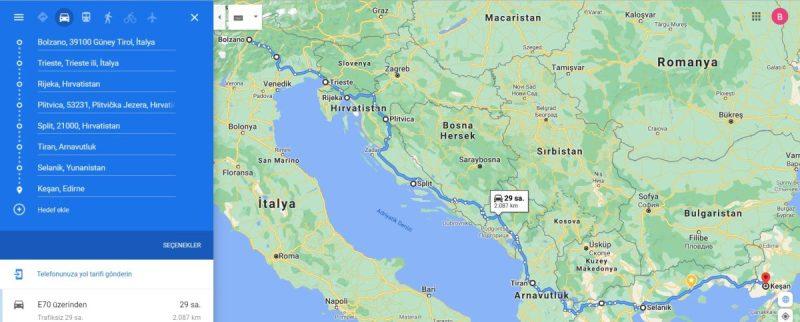 Motosikletle Adriyatik turu - dönüş