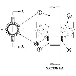 C-AJ-2268 Non-Metalic Pipe Penetration Detail with