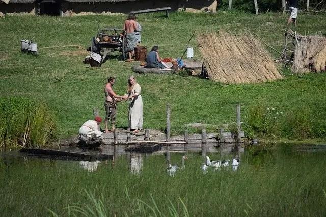 Viking kvinne med cannabis