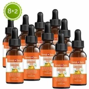 Formula Swiss 8+2 CBD olje i MCT Oil appelsin