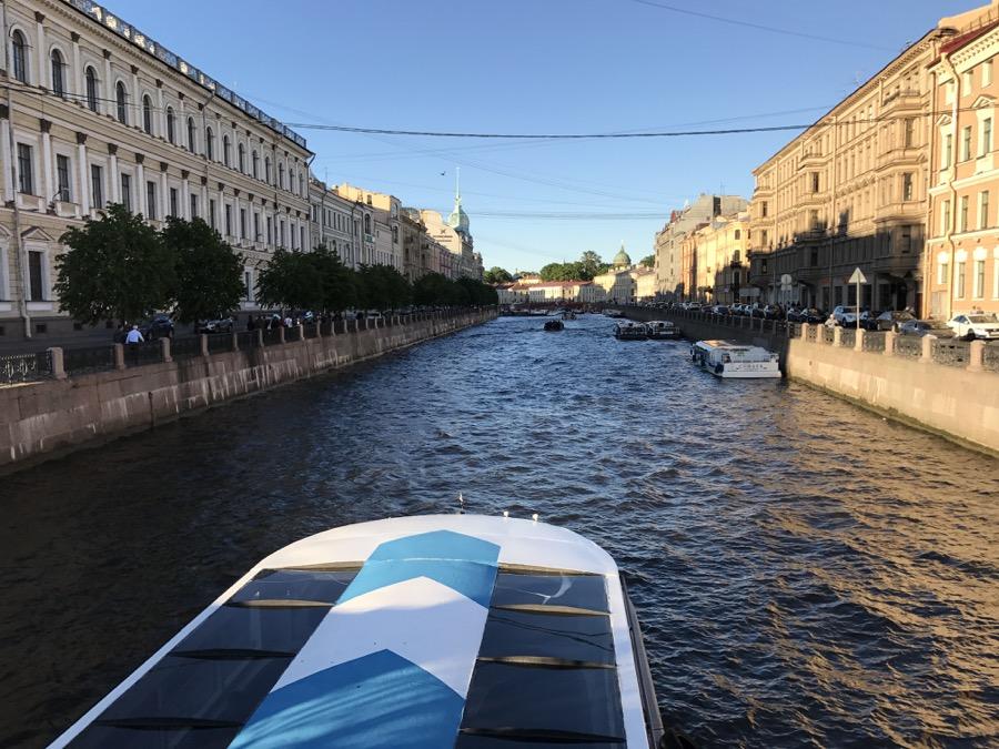 St. Petersburg boat ride