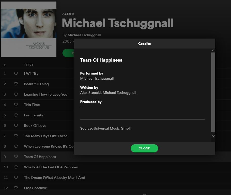 Spotify Tears Of Happiness