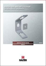 Surenkamojo gelzbetonio gaminiu varztinis sujungimas HALFEN HEK Denia Solutions Brosiura
