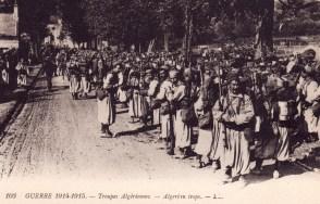 Carte postale tirailleurs en 1914-1915