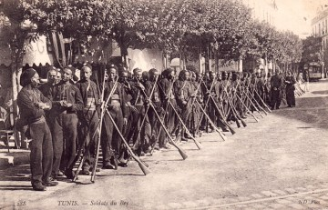 Carte postale tirailleurs tunisiens