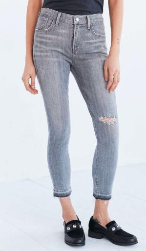 Raw hem skinny jeans, Urban Outfitters