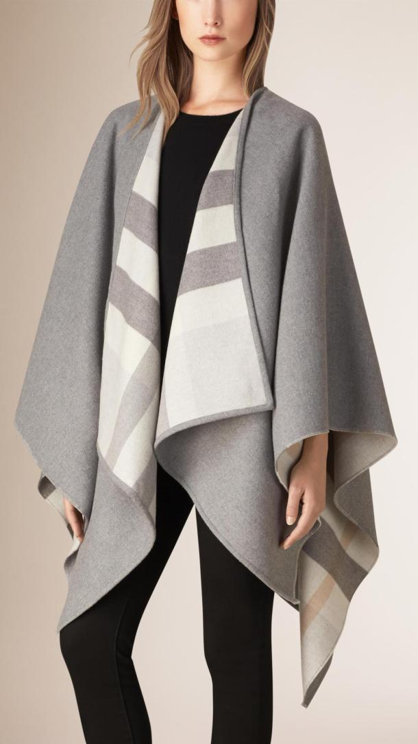 burberry-checked-lined-wool-cape-grey