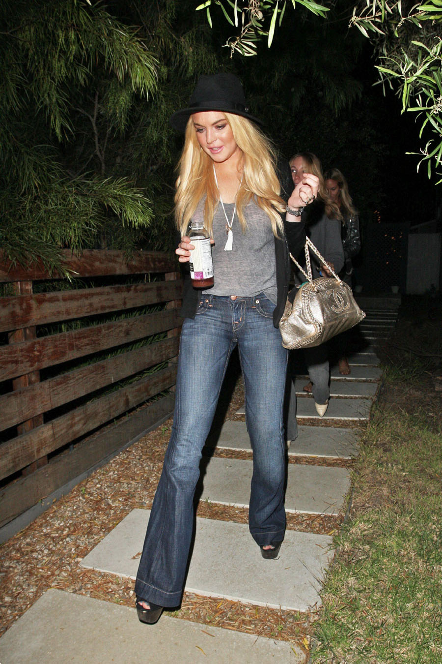 Lindsay Lohan In PRVCY Jeans  Denimology