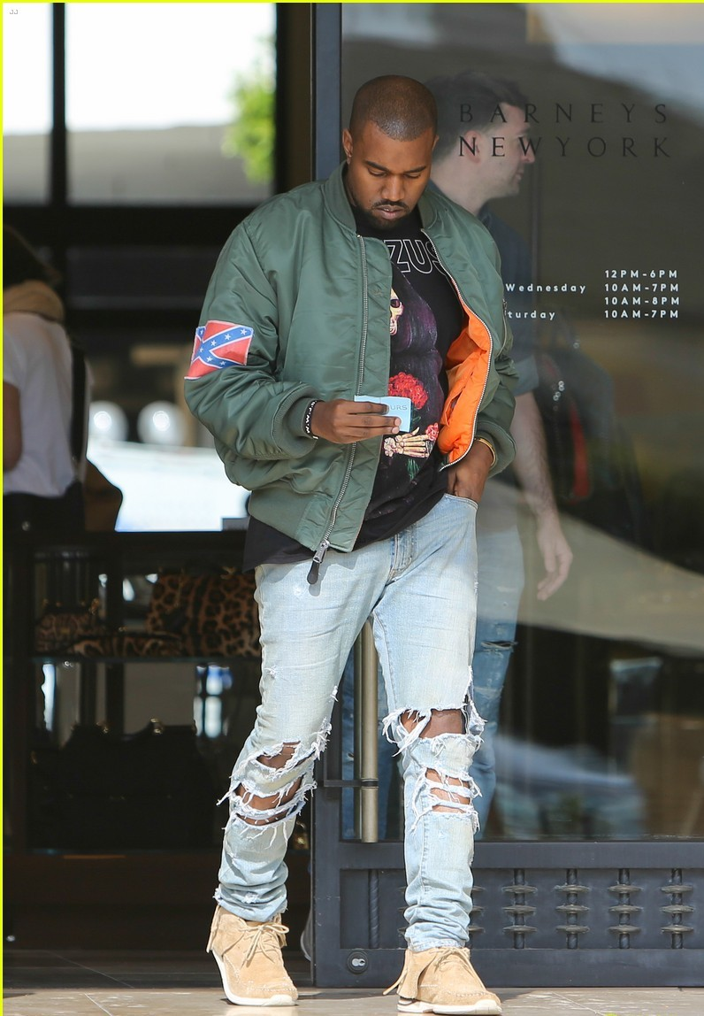 Kanye West In Ripped Jeans  Denimology