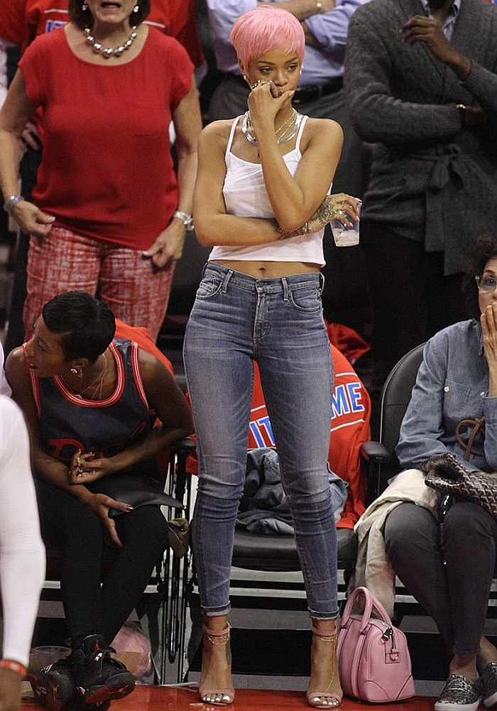 Rihanna in Citizens of Humanity High Rise Jeans  Denimology