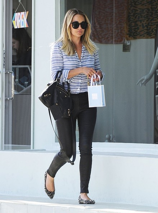 Lauren Conrad in J Brand Leather Jeans  Denimology