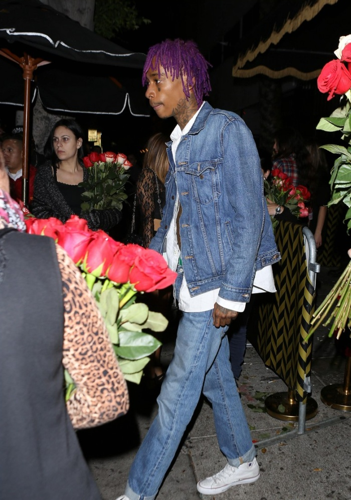 Wiz Khalifa in a Levis Denim Jacket and 501 Jeans