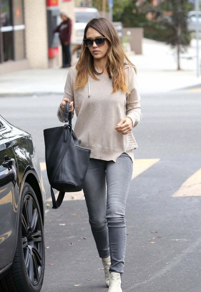 Jessica Alba in Black Orchid Jeans  Denimology