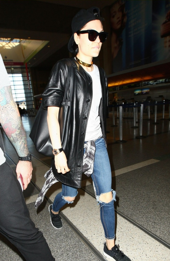 Jessie J in Skinny Ripped Jeans  Denimology