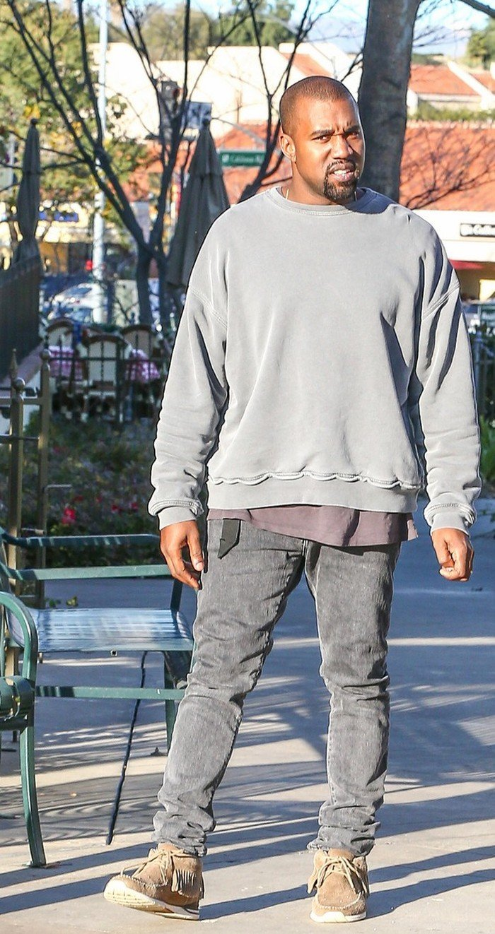 Kanye West in Faded Black Jeans  Denimology