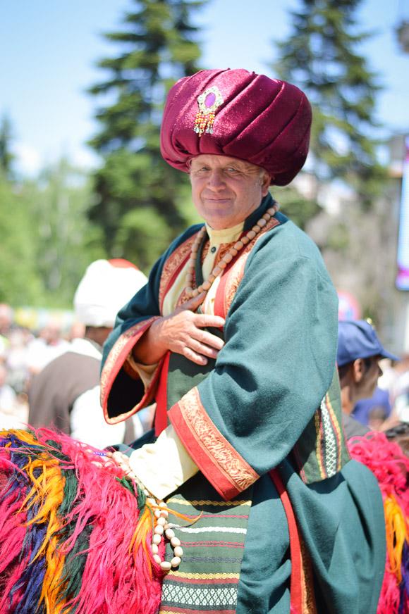 Cultures living together during the Rose Festival in Kazanlak