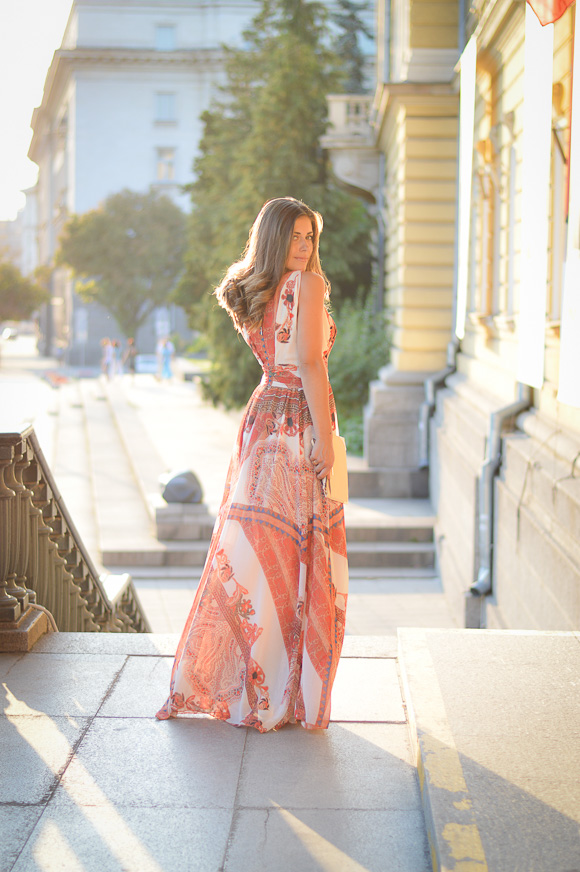 Bohemian Sunset - Denina Martin wearing Catty maxi dress from Bulgaria Mall
