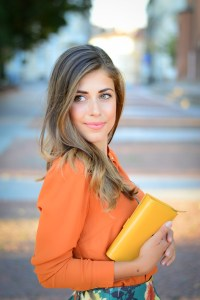 Denina Martin styling the burnt orange trend for Autumn 2015