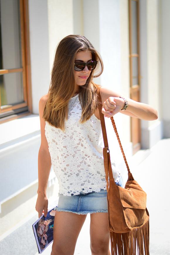 Denina Martin wearing Pepe Jeans from Bulgaria Mall