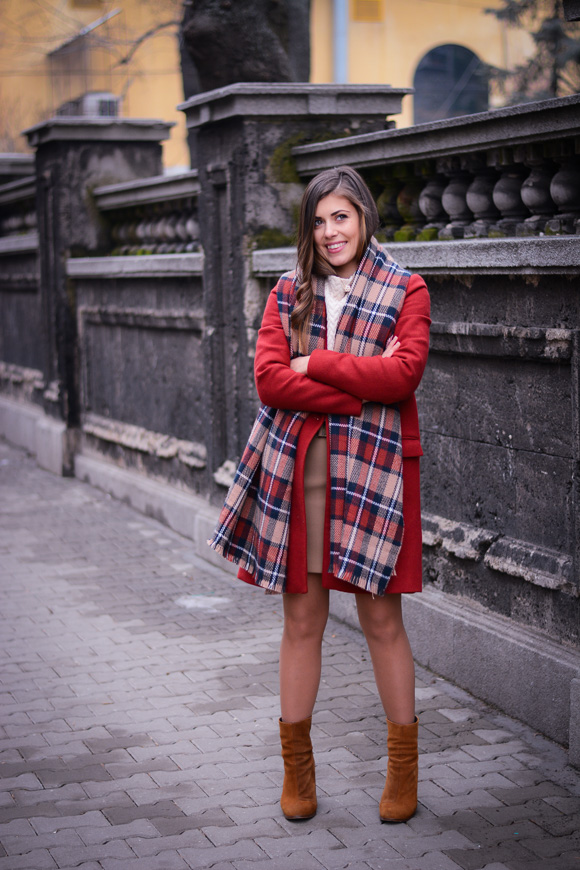 Winter-Red-Coat-Plaid-Scarf-Suede-Boots-Denina-Martin-1