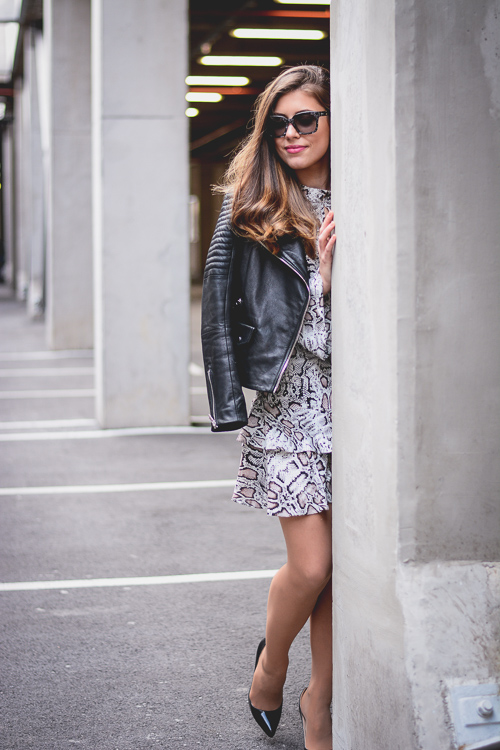European Fashion Blogger Denina Martin in a Rocker Chic Outfit