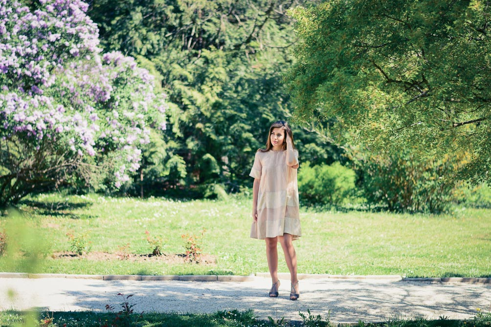 Denina Martin wearing H&M Conscious Exclusive Light Pink Dress