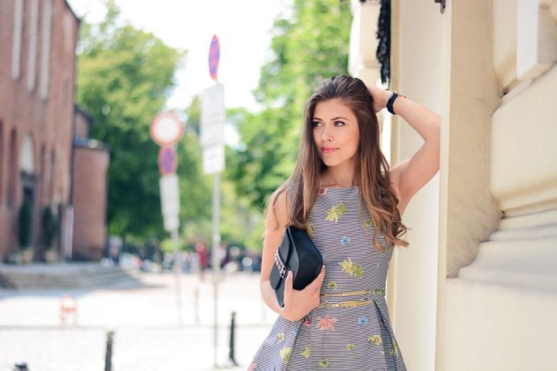 Denina Martin Wearing Beautiful Occaisiom Dress