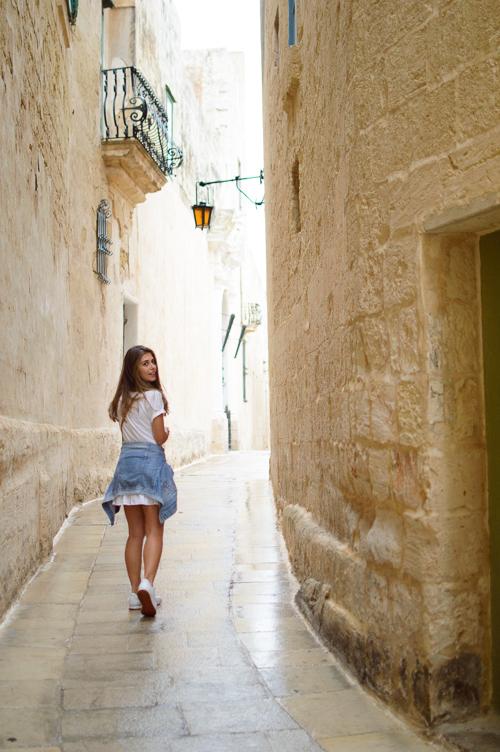Curve streets of Mdina