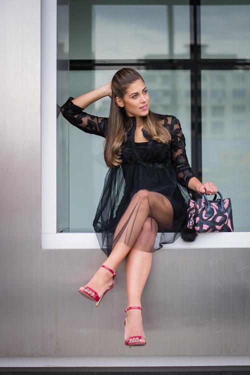 Bulgaria Mall Denina Martin Wearing Liu Jo Tutu Dress