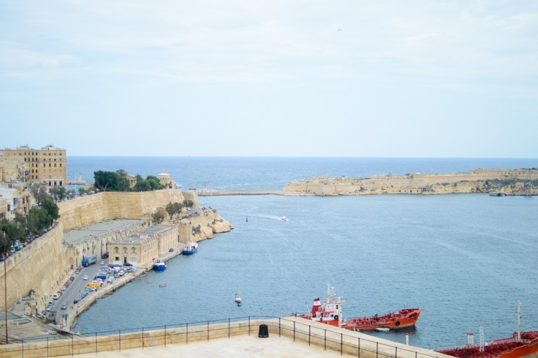 Exploring Malta city of Valletta East harbour
