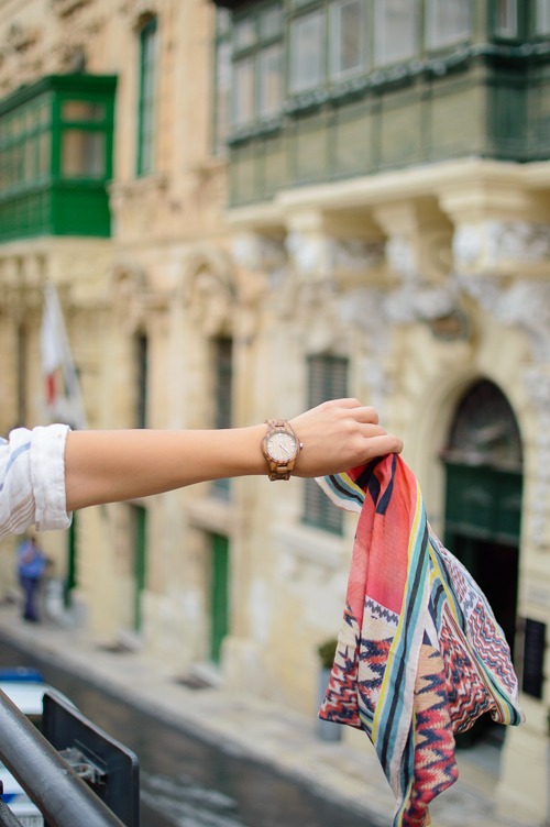 Exploring Malta city of valletta with Jord wood watch