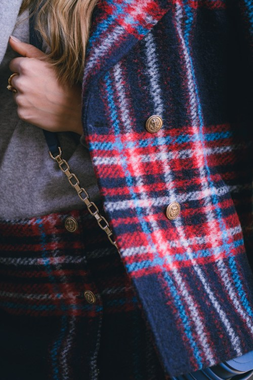 Penny black plaid costume details