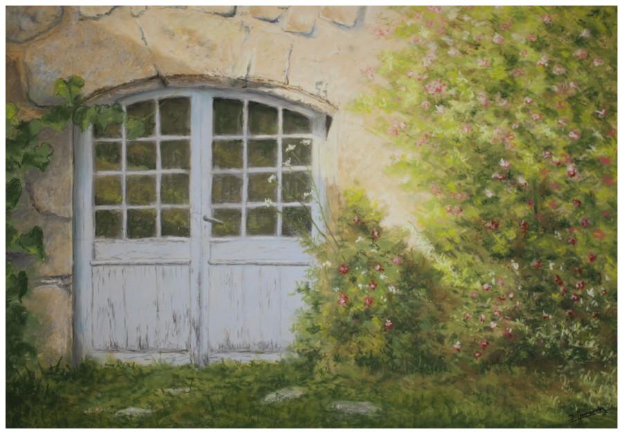 La porte de l auberge 100 70 denis hernandez - L encadrure de la porte ...