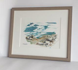 Lac Blanc, début de printemps, aquarelle 21x28