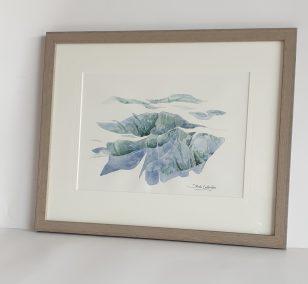 Glacier d'Argentière, aquarelle 21x30