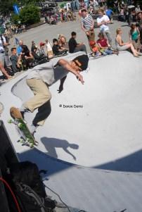 Skater au Square des Ursulines en fête