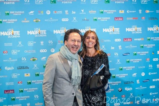 Charly Herscovici, président de la Fondation Magritte, et son épouse