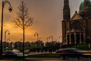 Coucher de Soleil sur la Basilique de Koekelberg