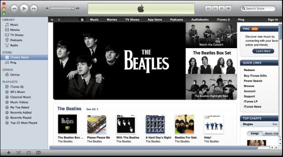 Beatles op iTunes