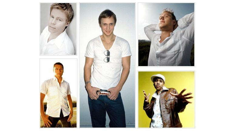 Deejays Armin van Buuren, Tiesto, Ferry Corsten, Chuckie, David Guetta
