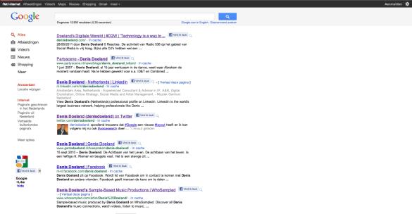 Tot slot valt op dat Google ook meteen zijn lay-out van de zoek-pagina heeft aangepast. Het ziet er erg strak en en gelikt uit. Het is inmiddels ook mogelijk als ingelogd bent om via via Voice Search te zoeken. Er hoeft niets meer worden ingetoetst.