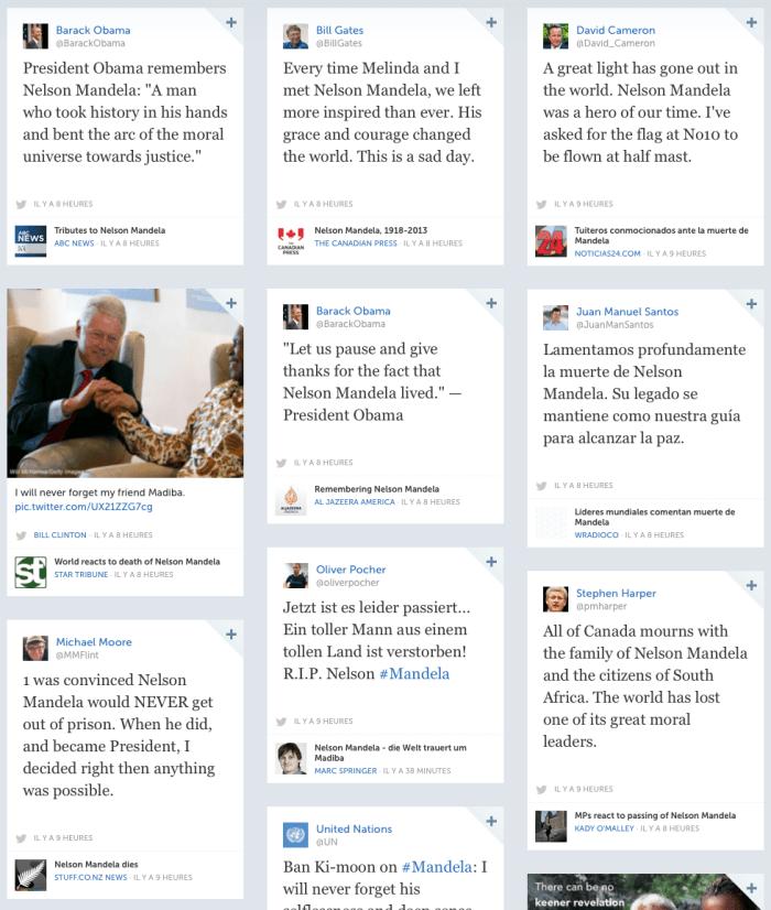 Nelson Mandela op Storify