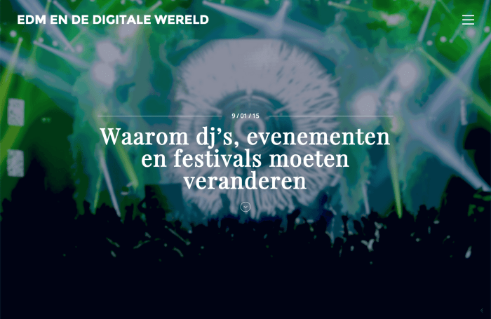 website edm en de digitale wereld