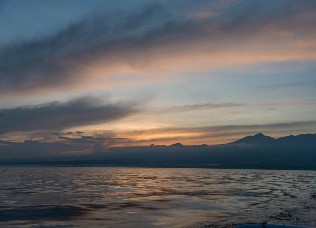 Sunrise at Lovina, Bali.