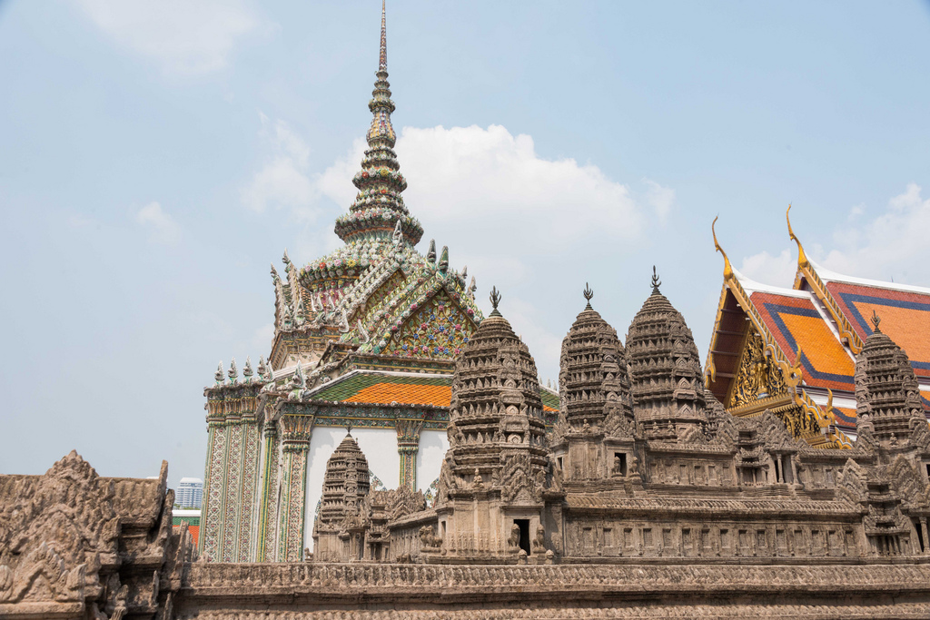 The Royal Palace contains a miniature of the Angkor Wat which we'll visit in Cambodia later in this trip.