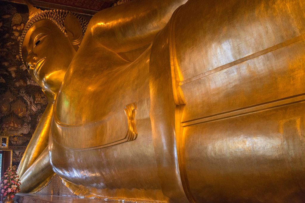 The reclining Buddha in Wat Pho, Bangkok.