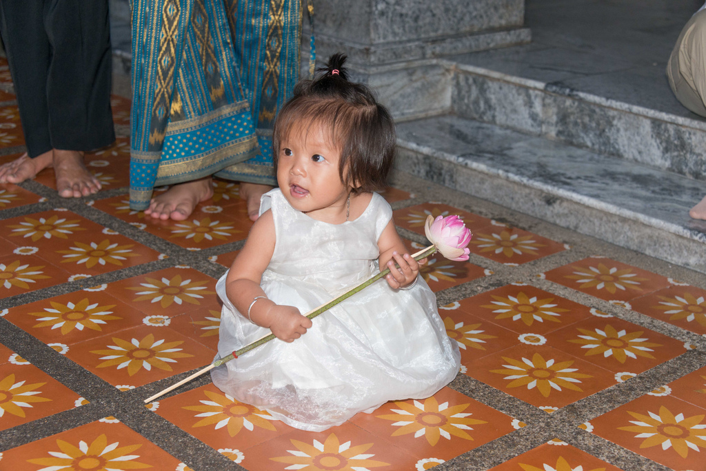 A girl visiting the Doi Suthep temple - she was so cute!
