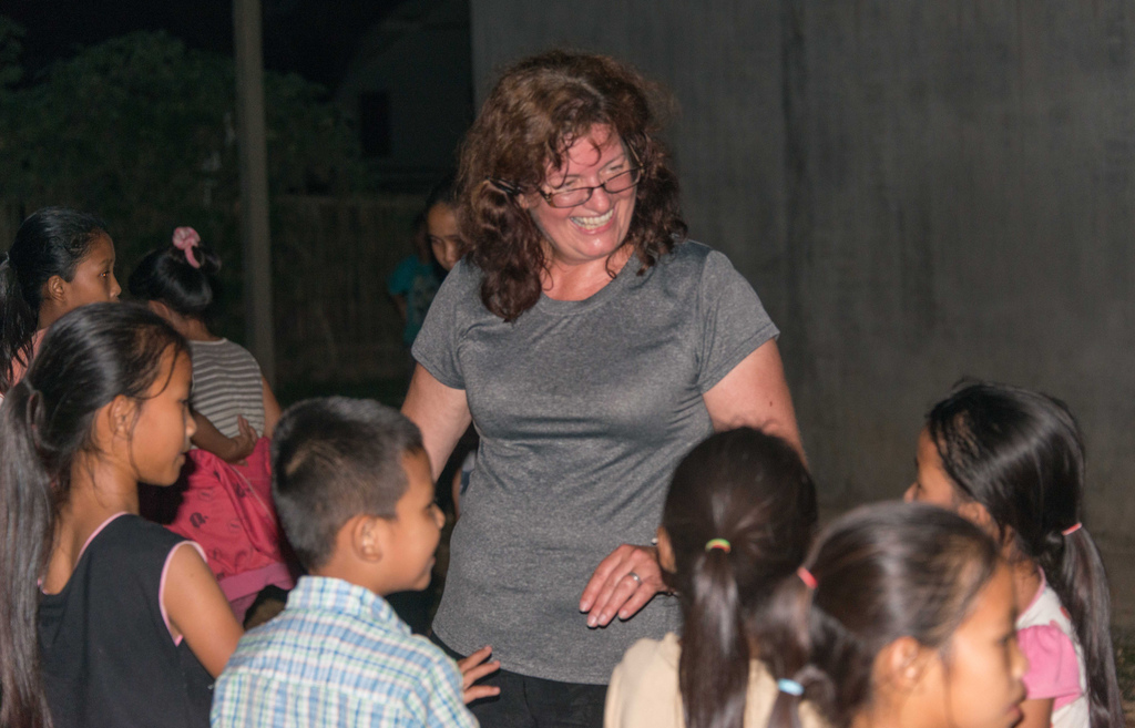 Showing off Gangnam Style moves to the kids.
